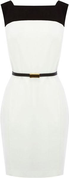 Oasis Drape Back Colour Block Dress - Lyst
