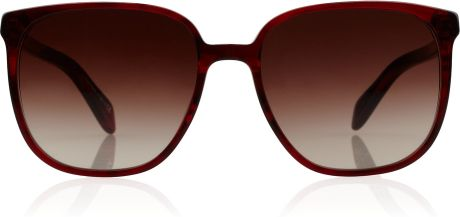 Oliver Peoples Emelita Squareframe Acetate Sunglasses in Brown (merlot) - Lyst