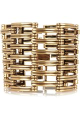 Oscar De La Renta 24karat Goldplated Cuff in Gold - Lyst