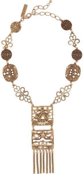 Oscar de la Renta 24karat Goldplated Necklace - Lyst