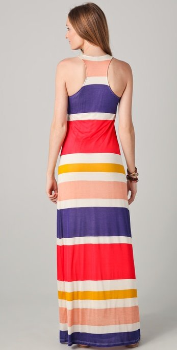 Block stripe maxi dress splendid