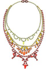 Tom Binns Fauve Handpainted Swarovski Crystal Necklace - Lyst