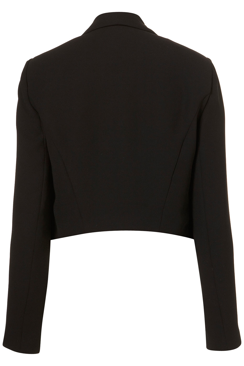 Lyst Topshop Seam Front Waterfall Jacket In Black
