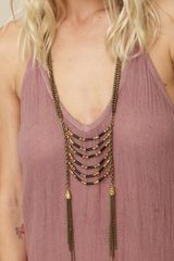 Vanessa Mooney Juliet Necklace in Gold (black #000000) - Lyst