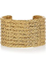 Yves Saint Laurent Goldplated Ropeinspired Cuff - Lyst