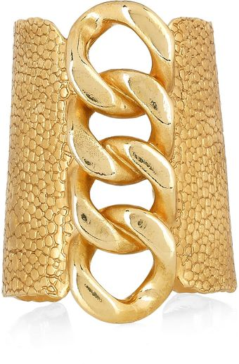Yves Saint Laurent Goldplated Stingrayeffect Chain Cuff - Lyst