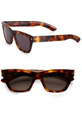 Yves Saint Laurent Square Plastic Sunglasses in Brown for Men (multi) - Lyst