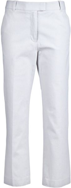 3.1 Phillip Lim Cropped Trouser in White - Lyst