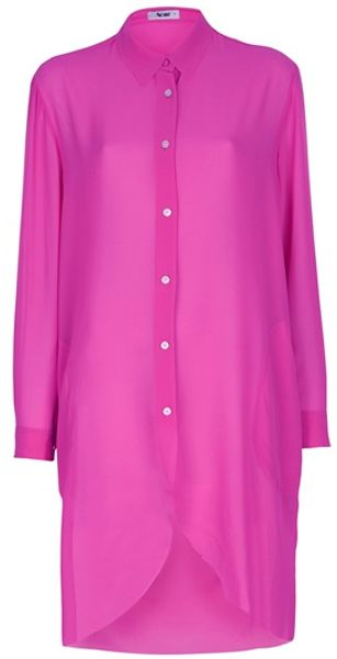 Acne Penny Long Blouse in Purple (pink) - Lyst