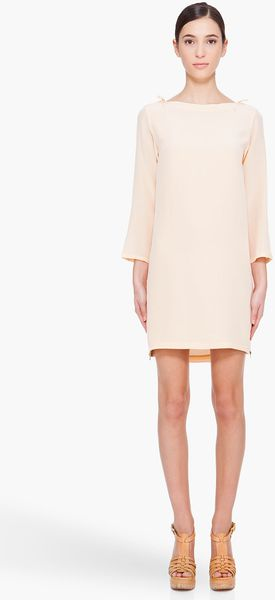 A.P.C. Peach Silk Dress - Lyst
