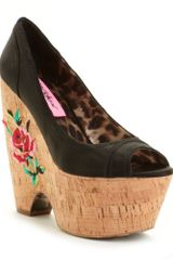 Betsey Johnson Rosetaa Platform Wedges - Lyst