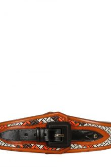 Burberry Prorsum High Waisted Leather Belt - Lyst