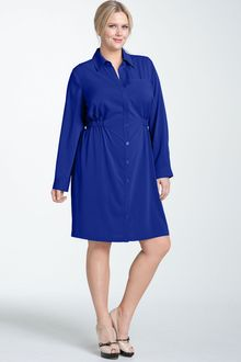 Calvin Klein Cinch Waist Shirtdress - Lyst
