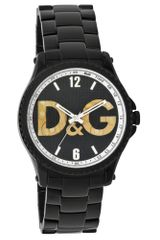 D&g Black Plated Stainless Steel Bracelet in Black for Men - Lyst