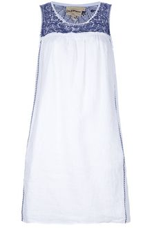 DKNY Embroidered Sleeveless Dress - Lyst