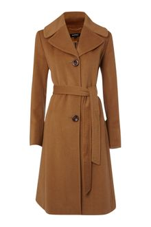 Ellen Tracy Wool Blend Belted Coat - Lyst