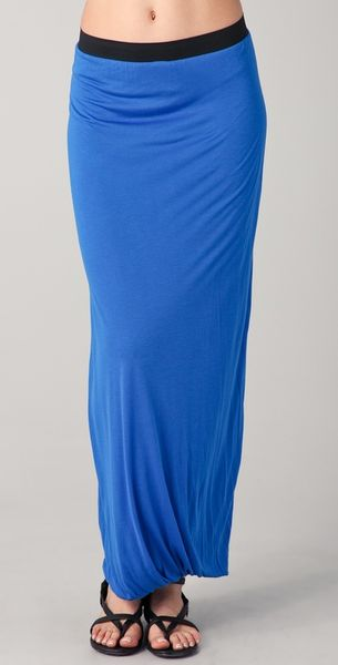 enza costa maxi skirt in blue sapphire lyst