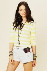 Free People Rugged Ripped Baja Denim Shorts - Lyst