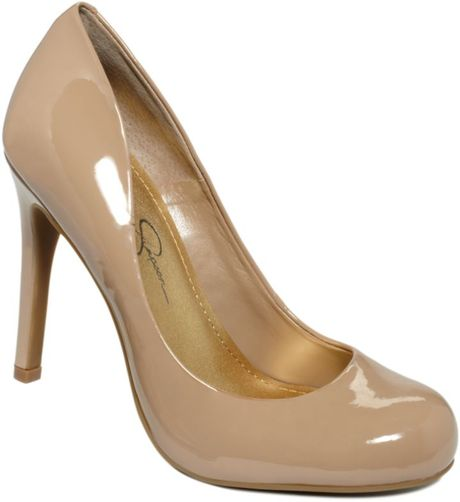 Jessica Simpson Calie Pumps in Brown (nude) - Lyst