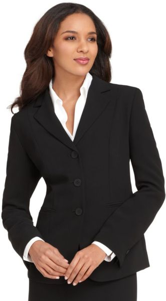 Jones New York Jacket Devon Three Button Blazer Black - Lyst