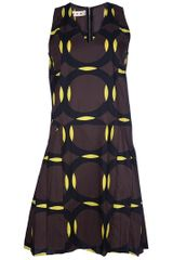 Marni Circle Dress in Brown - Lyst