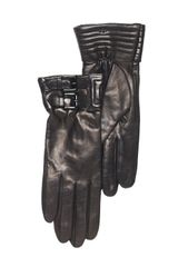Michael by Michael Kors Belted Lambskin Gloves - Lyst