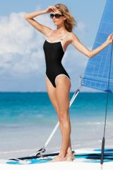 Michael Kors Lingerie Strap One Piece in Black - Lyst