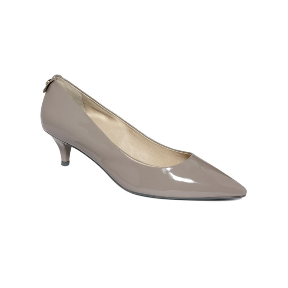 Grey Kitten Heels - Is Heel