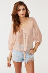 Nasty Gal Crochet Tie Top Blush in Pink (blush) - Lyst