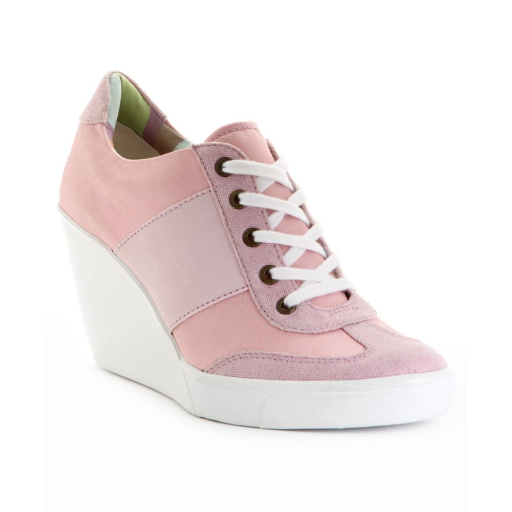 Lyst - Nine West Preston Wedge Sneakers in Pink