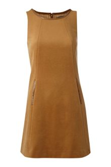Pied A Terre Wool Shift Dress - Lyst