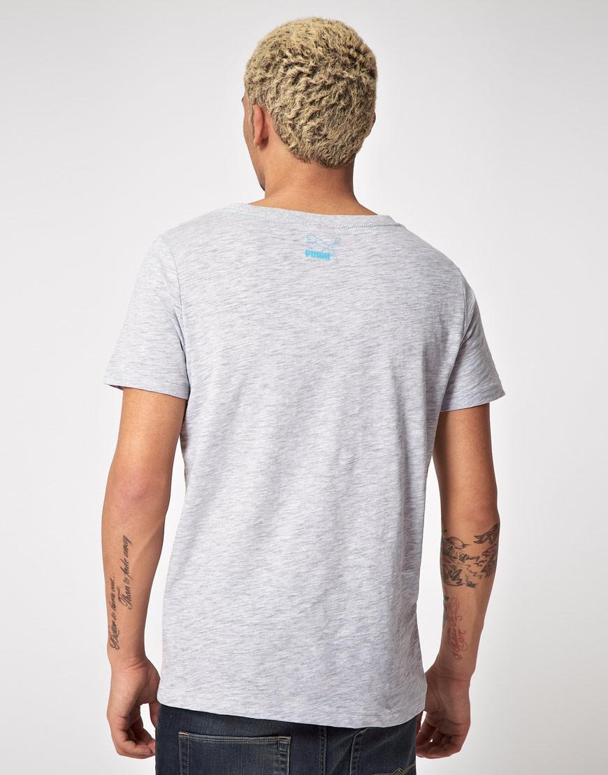 Lyst Puma Puma Boat Neck Tshirt In Gray For Men
