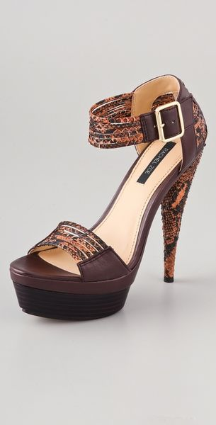 Rachel Zoe Bonnie Platform Sandals in Brown - Lyst