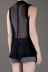 Rag & Bone Sheer Sleeveless Blazer in Black - Lyst