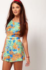 River Island River Island Daisy Tropical Playsuit - Lyst