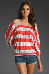 Splendid Palm Stripe Dolman Top - Lyst