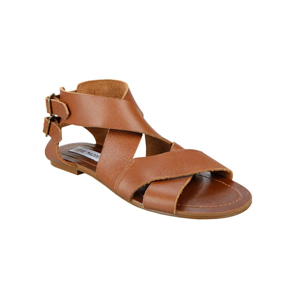 76d9408884497 Lyst - Steve Madden Achilees Flat Sandals in Brown