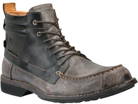 timberland earthkeepers city moc toe chukka boots in black