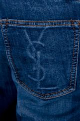 Yves Saint Laurent Slim Fit Jeans in Blue for Men - Lyst
