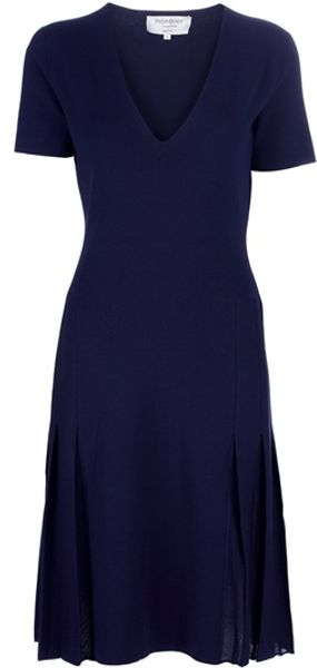 Yves Saint Laurent Vneck Dress - Lyst