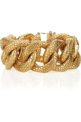 Saint Laurent Goldplated Stingrayeffect Chain Bracelet - Lyst