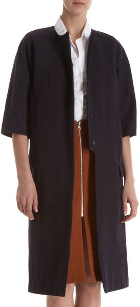 Acne Cropped Sleeve Coat - Lyst