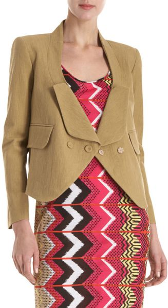Carven Drop Collar Blazer - Lyst