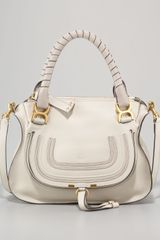 Chloé Small Marcie Shoulder Bag Dove - Lyst
