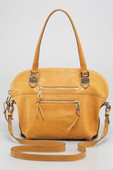 Chloé Angie Shoulder Bag Medium in Yellow (tan) - Lyst
