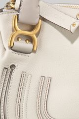 Chloé Small Marcie Shoulder Bag Dove in Beige (white) - Lyst