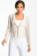 Eileen Fisher Crop Linen Jacket - Lyst