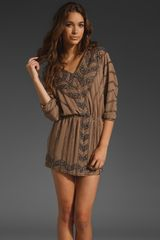 Haute Hippie Sequin Vneck Dress - Lyst
