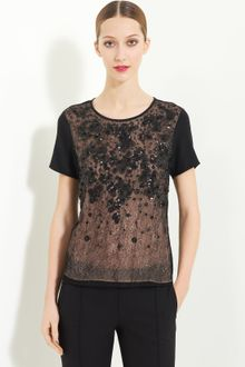 Jason Wu Embroidered Silk Jersey Tee - Lyst